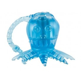 Голубой вибростимулятор в виде осьминога